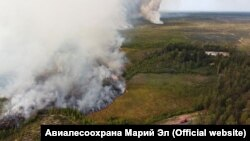Пожар в Марий Эл