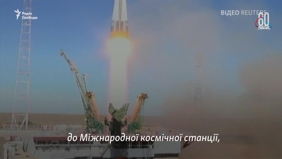 Фрагмент трансляции NASA запуска «Союза», когда сообщается об аварии
