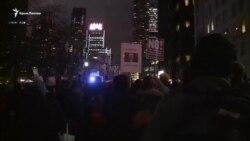 В Нью-Йорке перед инаугурацией Трампа вышли с протестом (видео)