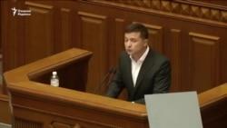 Украина президенти янги парламентга ўзини кўрсатиш учун бир йил муҳлат берди