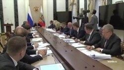 Владимир Путин на совещании с правительством 1