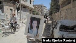 Damasc, Siria - un punct de control într-o periferie a capitalei siriene (foto arhivă, 2020)