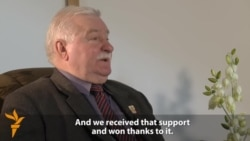 Walesa Praises West For Helping Defeat Communism In Poland