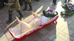 A Pig In A Coffin For Ukrainian Lawmakers