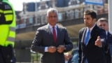 NETHERLANDS -- Kosovar President Hashim Thaci arrives to be interviewed by war crimes prosecutors after being indicted by a special tribunal, in The Hague, July 13, 2020