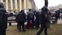 Minskdə milis müxalifətin aksiyasını dağıdıb