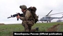 Військові навчання російської армії в Криму, полігон Опук, квітень 2021