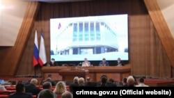 Заседание российского парламента Крыма 30 апреля 2021 года