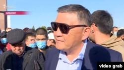 Камчыбек Ташиев на митинге в Бишкеке. 5 октября 2020 года.