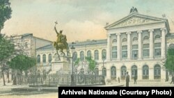 În vremea lui Carol I, defilarea de 10 Mai, adică de Ziua Națională, trecea de pe Calea Victoriei și prin fața statuii lui Mihai Viteazul. Familia regală asista exact din acest loc, o declarație implicită a aspirațiilor de unire ale României. Ilustrată, Arhivele Naționale.