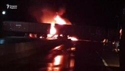 Гражданин Турции погиб при столкновении грузовика и поезда в Бухаре