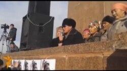 Ош: митинг сторонников Мырзакматова