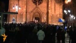 Slavlje navijača zbog pobjede BiH nad Grčkom