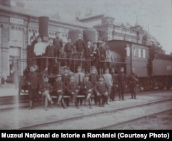Angajați ai Gării din Lipcani, 1916