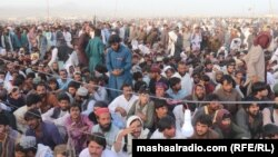 Tens of thousands of people attended the funeral and burial ceremony of Pashtunkhwa Milli Awami Party leader and former senator Usman Khan Kakar on June 23.
