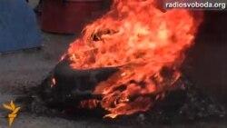 На Майдані підпалили шини через Кличка