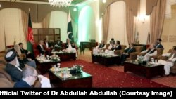عبدالله عبدالله در سفرش به پاکستان با برخی از مقامهای ارشید پاکستانی دیدار کرد.