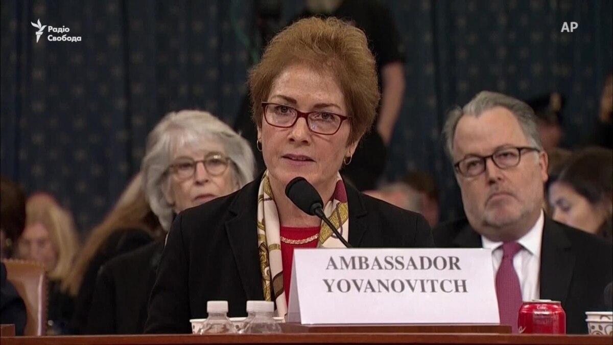 Бывшая посол США в Украине говорит, что ее «поставили на колени» клеветой – видео