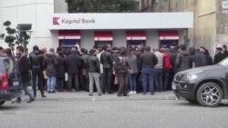 Bakıda bankomat qarşısında uzun növbələr