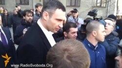 Невідомі не пускали журналістів на прес-конференцію Кличка у Харкові