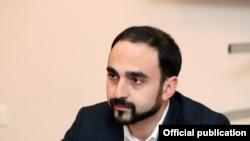 Deputy Prime Minister Tigan Avinian during a visit to Armenia's southern Syunik province, January 29, 2021