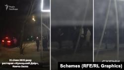 «Схеми» поставили авто з реєстратором, який у той же час зафіксував щільний трафік з іншого боку ресторану з лісу