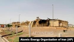 تأسیسات اتومی نظنز پس از انفجار