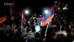 Armenian Opposition Protesters Scuffle With Police