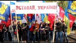 У Черкасах на Театральній площі мітингувала опозиція, а на Соборній площі «антифашистський мітинг» проводила влада