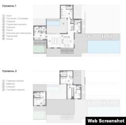 Поэтажный план дома