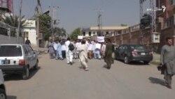پېښور: د خبریال هارون خان د وژنې ضد لاریون