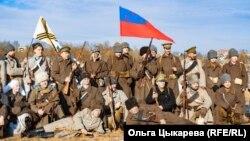 """""""Волочаевское сражение"""". Хабаровск 14 февраля 2021 г. Фотография на память."""