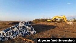 Роботи біля Бештерек-Зуйського водозабору, жовтень 2020 року