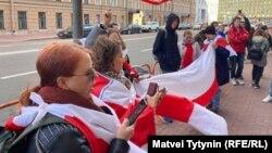 Акция в поддержку белорусов в Петербурге