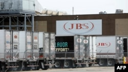 Завод компании JBS в штате Мичиган 2 июня 2021 года после хакерской атаки на предприятие