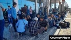 Застрявшие пассажиры в аэропорту Душанбе