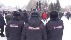 У російському Томську затримали прихильників Навального (відео)