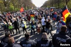 Protest u Berlinu 21 april 2021.