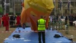Trump Britaniyada etirazlarla qarşılanır