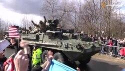 Американська військова колона вже в Празі