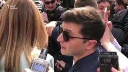 Відео: «Повстанці» – малось на увазі «бунтарі» – Зеленський прибув на виборчу дільницю
