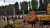 Будаўнікі некалькіх будаўнічых кампаній выйшлі на страйк на вул. Кіжаватава, Менск