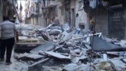 Алеппо осмонида ҳарбий самолëтлар