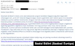 A vonatkozó részlet a hivatalos válaszból. A sajtóosztály munkatársainak személyes mailcíme azért lett kitakarva, mert ők sem adják meg a honlapon. Ha ön olyan újságíró, akinek az Európai Bizottság magyarországi tevékenységével kapcsolatban vannak kérdései, akkor megtalálja a sajtóosztály elérhetőségeit itt: https://ec.europa.eu/hungary/news/pressroom_hu