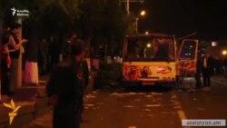 Yerevanda avtobus partlayıb