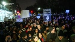 Thousands Protest In New York On Eve Of Trump's Inauguration