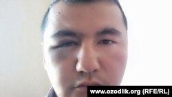 Шоҳрух Оққӯзиев, муаллими яке аз мактабҳои Чиракчини Узбекистон.