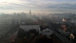 Vazduh je u Valjevu (na fotografiji, 1. februar 2021.) kategorisan u treću kategoriju, odnosno kao opasan po zdravlje.
