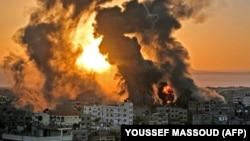 Сектор Газа после израильских обстрелов