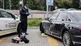 Поліція на місці обстрілу автомобіля першого помічника президента
